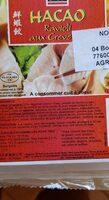 Hacao Crevette 016 PCS - Nutrition facts - fr