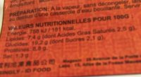 Hacao Crevette 050 PCS - Nutrition facts - fr