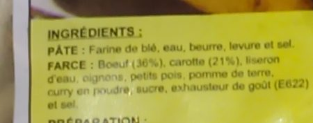 Samoussa au boeuf - Ingredients - fr