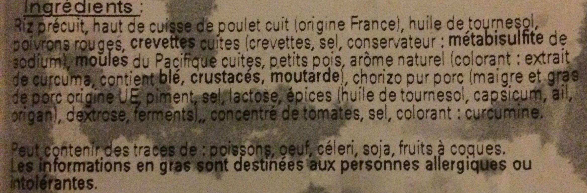 Paella - Ingrédients