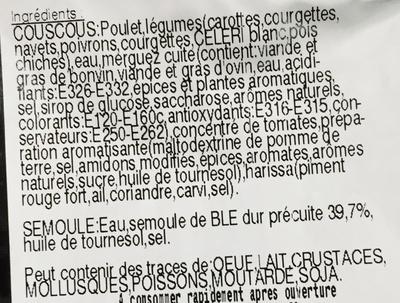 Couscous & Semoule - Ingrédients
