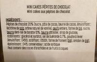 Mini cakes pepites de chocolat - Ingrédients