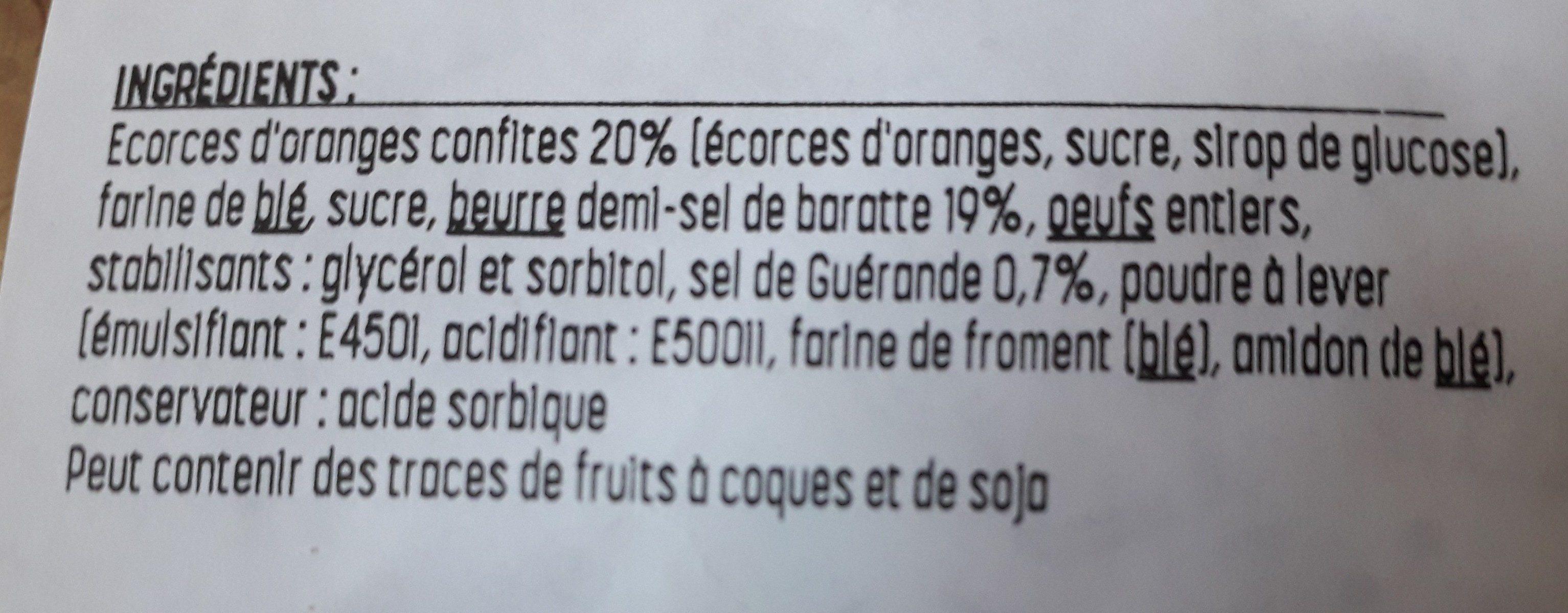 Mini cake écorces orange - Ingredients