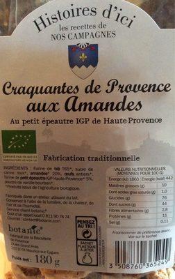 Craquantes de provence aux amandes - Product - fr