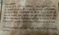 Pain nordique - Ingrediënten