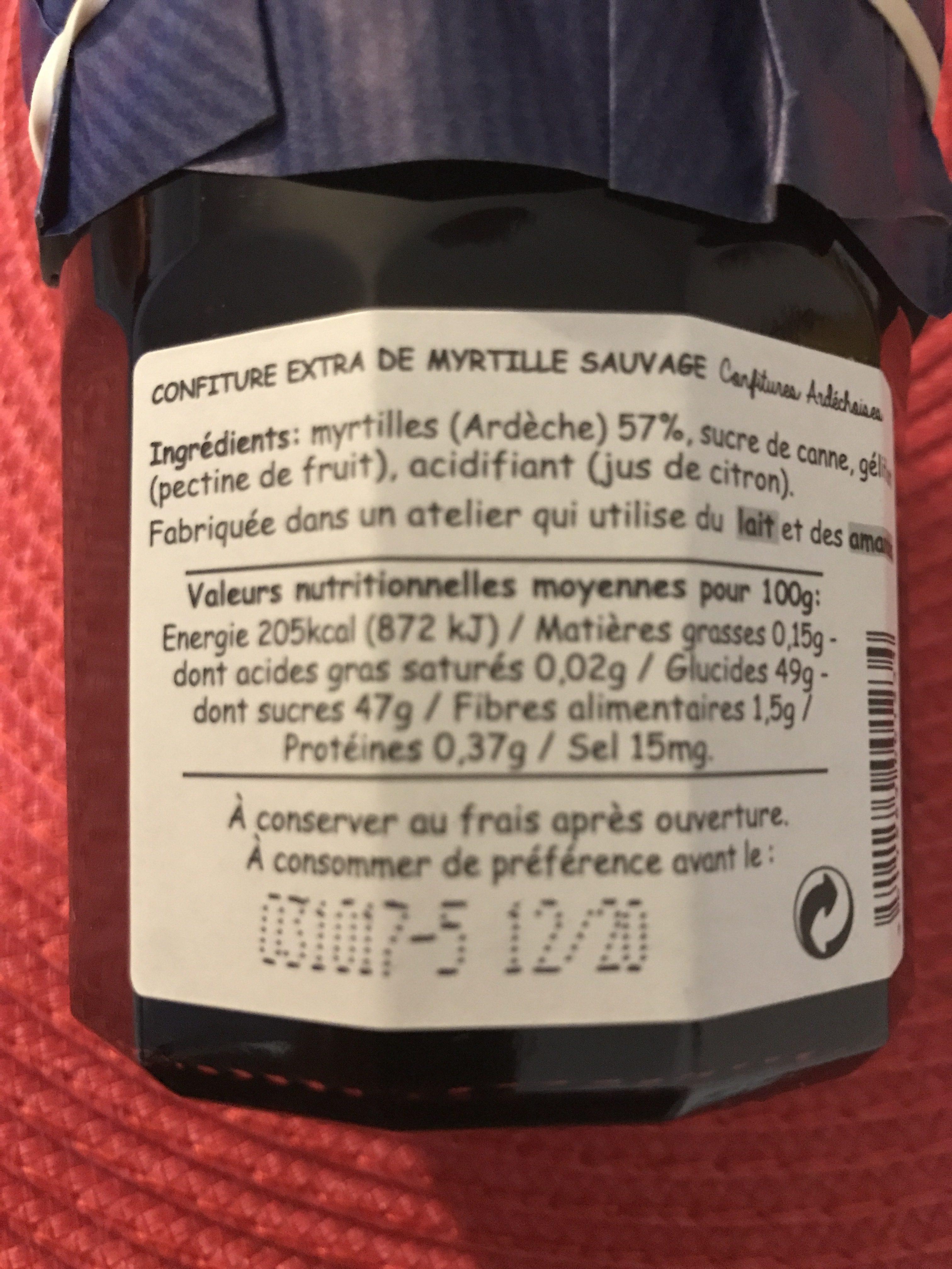 Confiture myrtille sauvage - Ingredienti - fr