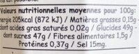 Confiture myrtille sauvage - Valori nutrizionali - fr