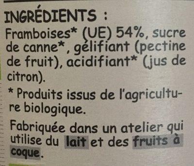 Framboise sans pepins - Ingrediënten