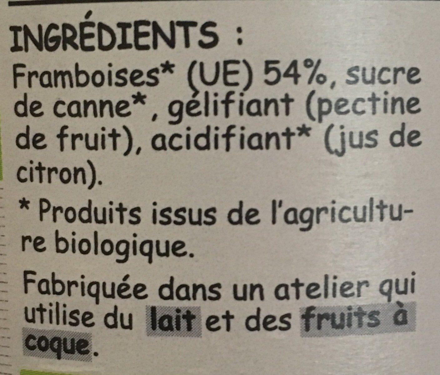 Framboise sans pepins - Ingrediënten - fr