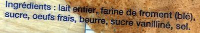 12 Crêpes Bretonnes faites main - Ingrédients - fr