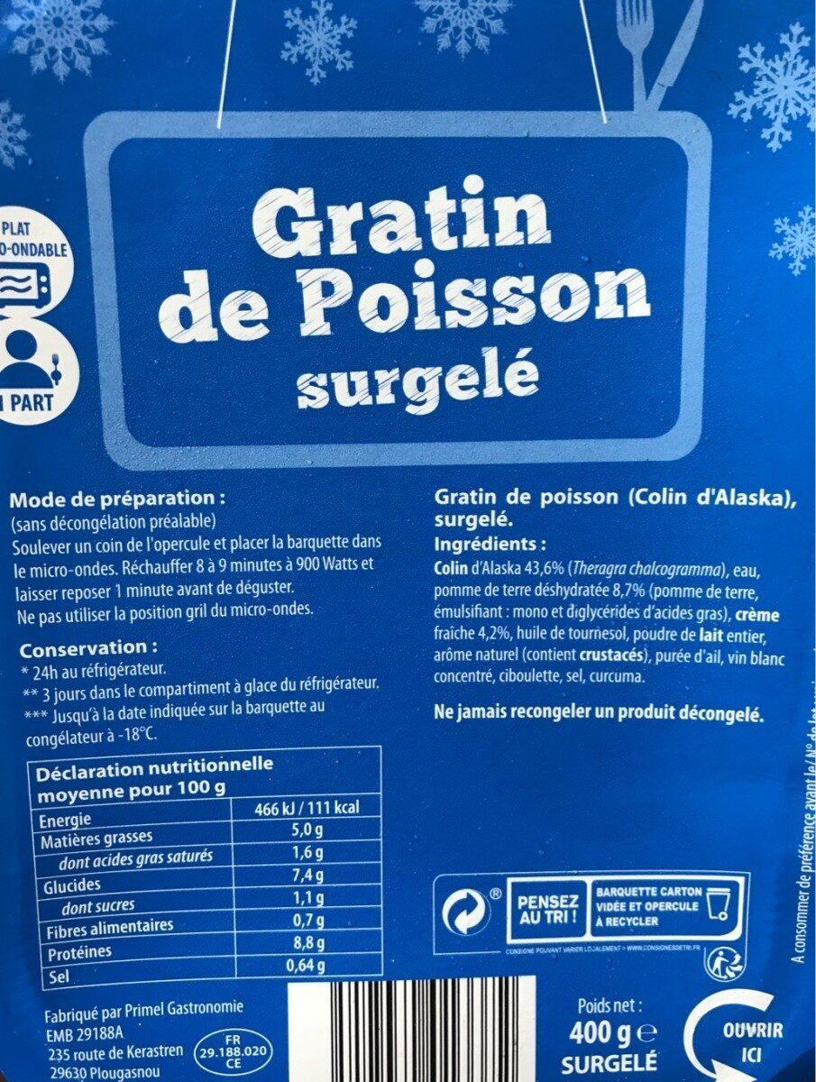 Gratin de poisson surgelé - Produkt - fr