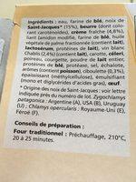 Paniers feuilletes saint-jacques - Ingrédients
