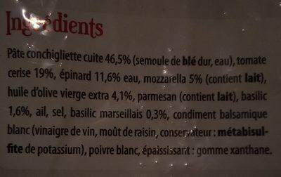 Salade de pates a l'italienne - Ingrédients - fr