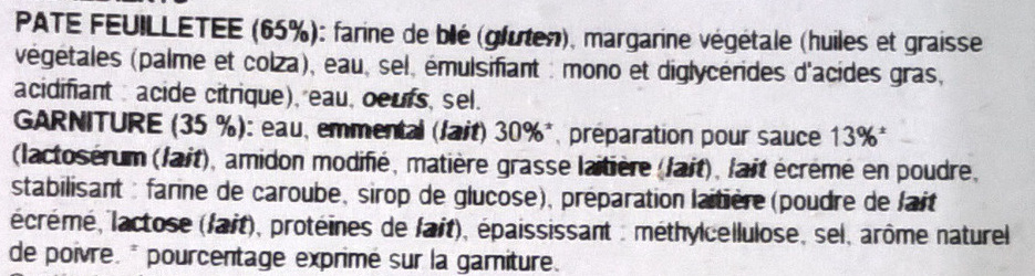 Feuilletés au fromage - Ingrediënten - fr