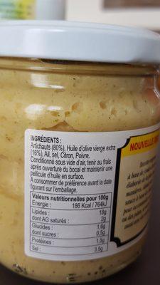 Crème d'artichaut Rustique A Paesana - Ingrédients