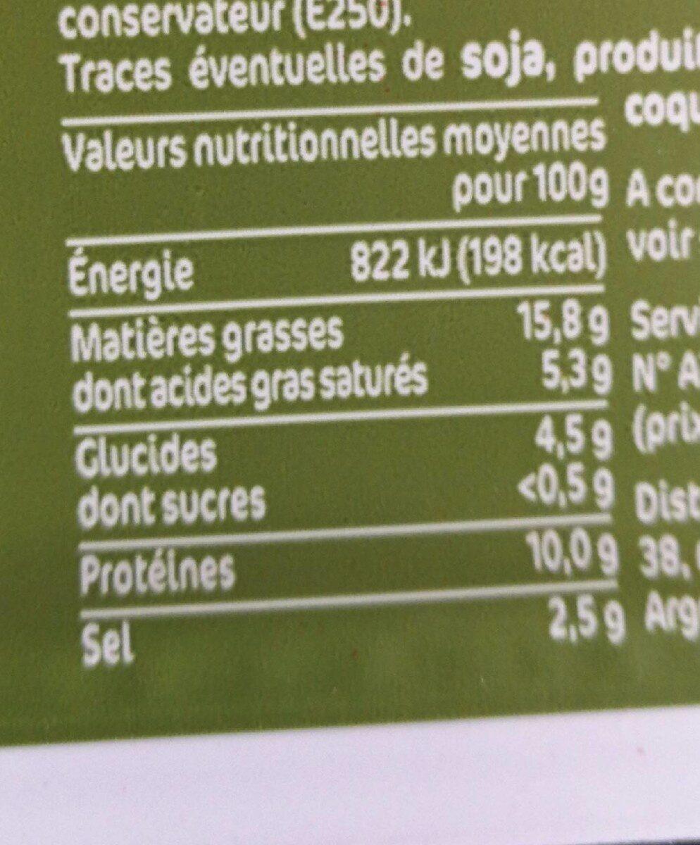La Mortadélice aux Olives - Informations nutritionnelles - fr