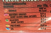 Délice de dinde fumé 4 tranches - Informations nutritionnelles - fr