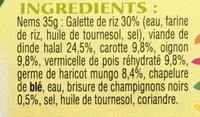 8 Nems de Dinde - Ingredients - fr