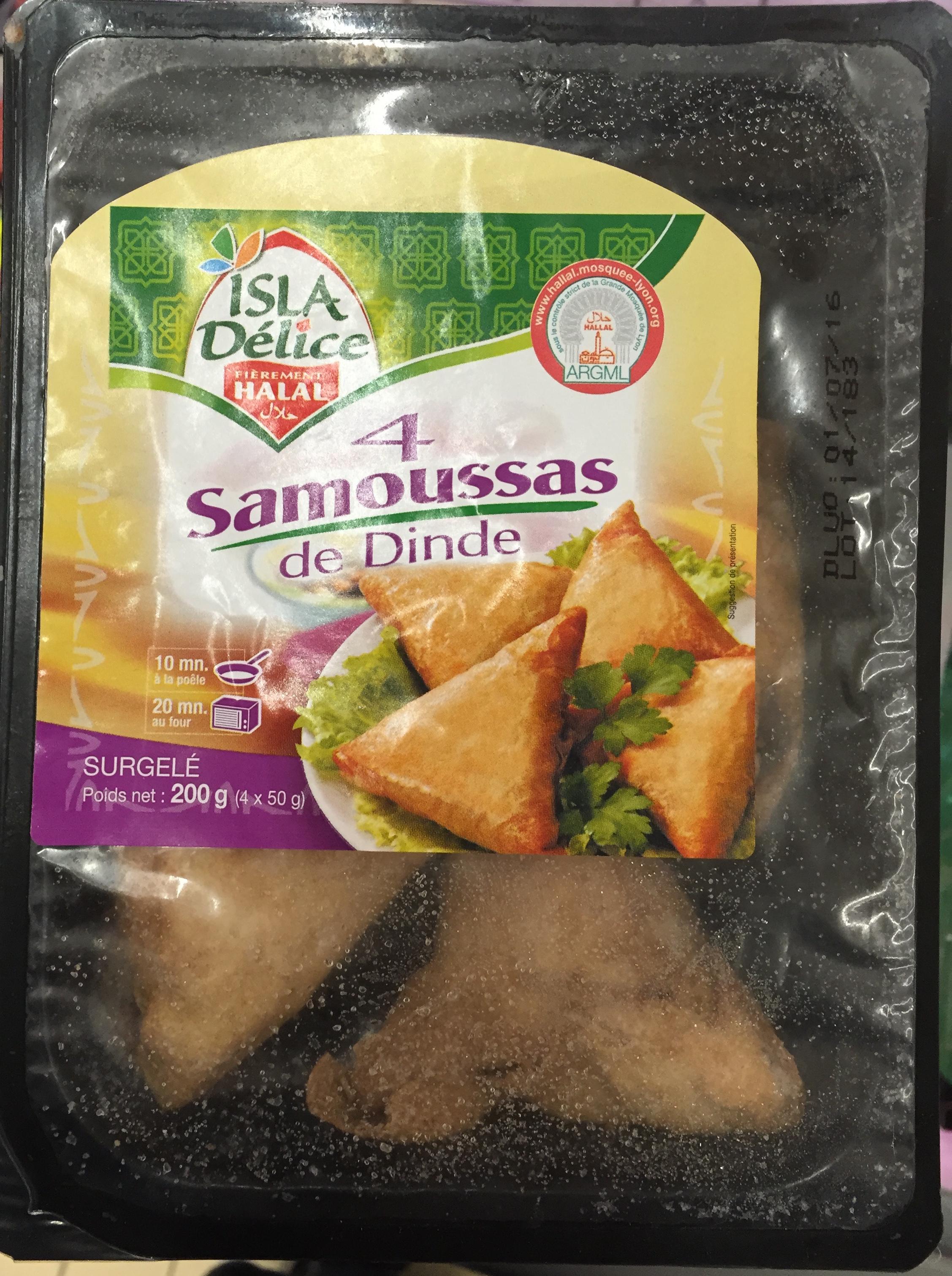 4 Samoussas de Dinde, Surgelé - Product - fr