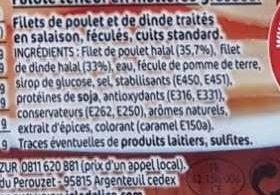 Délice de Poulet - Ingredients