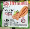Saucis' goût fumé halal - Produit