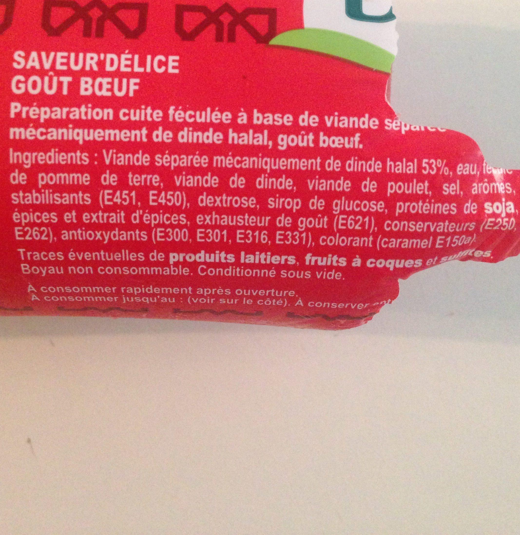 Saveur Delice (Cachir) - Ingrediënten