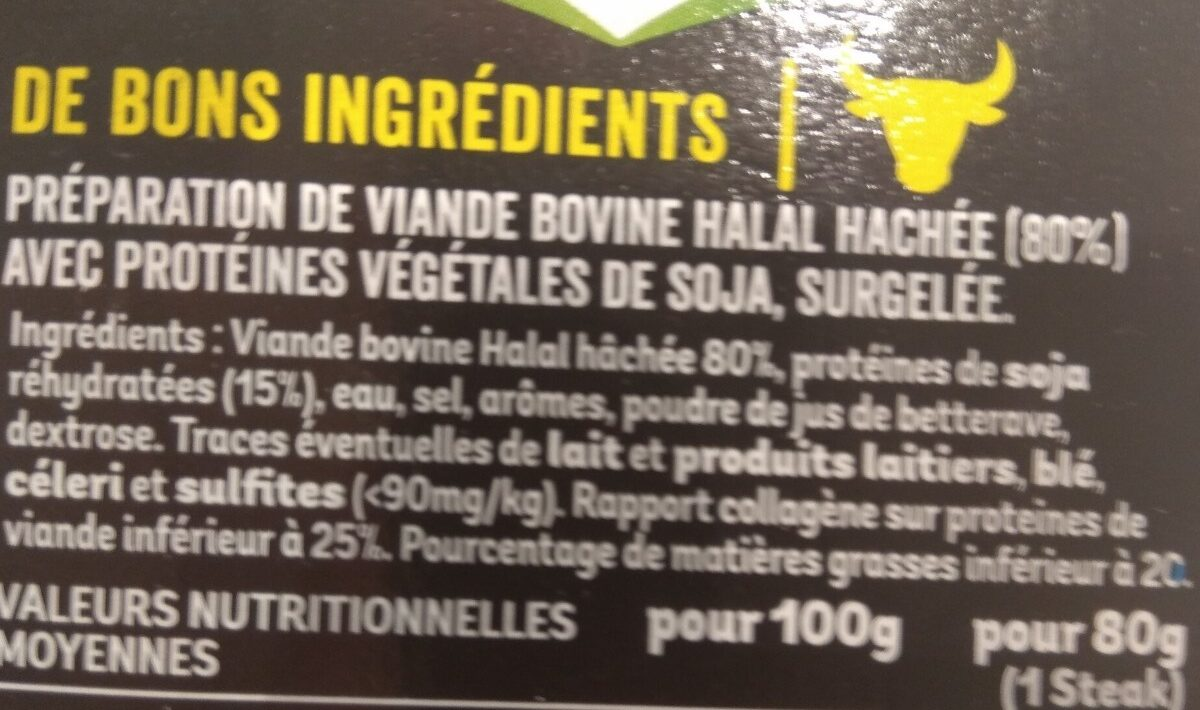 L'extra-tendre - Ingredients