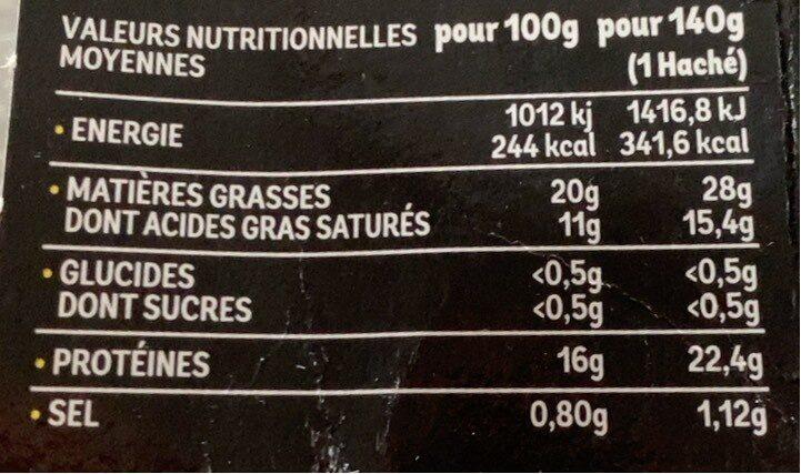 Le XL - Informations nutritionnelles - fr