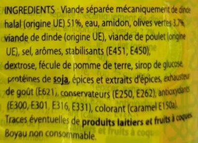Saveur'délice goût bœuf aux olives - Ingrédients - fr
