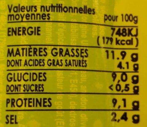 Saveur'délice goût bœuf aux olives - Informations nutritionnelles - fr