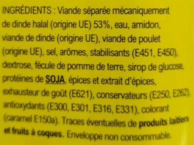 Saveur'délice goût boeuf - Ingrédients - fr