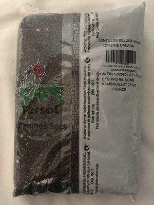 Lentilles béluga (noires) - Voedingswaarden - fr