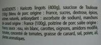 Cassoulet confit de canard - Ingrediënten