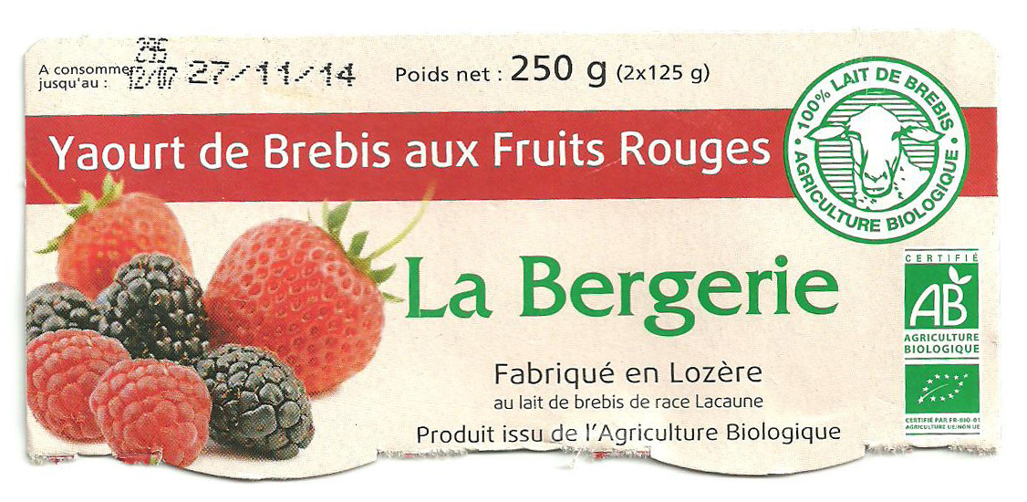 Yaourt de Brebis aux Fruits Rouges - Product - fr