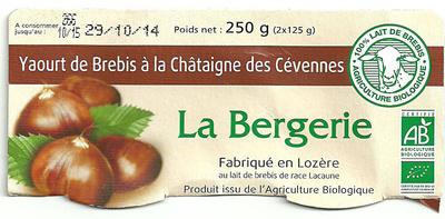 Yaourt de Brebis à la Châtaigne des Cévennes - Product