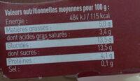 Yaourt de Brebis à la Châtaigne des Cévennes - Voedingswaarden - fr