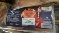 4 brown muffins - Product