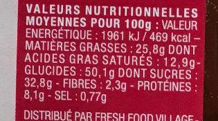 8 Mini Gaufres Moelleuses - Informations nutritionnelles