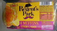 4 muffins citron & pavot - Produit