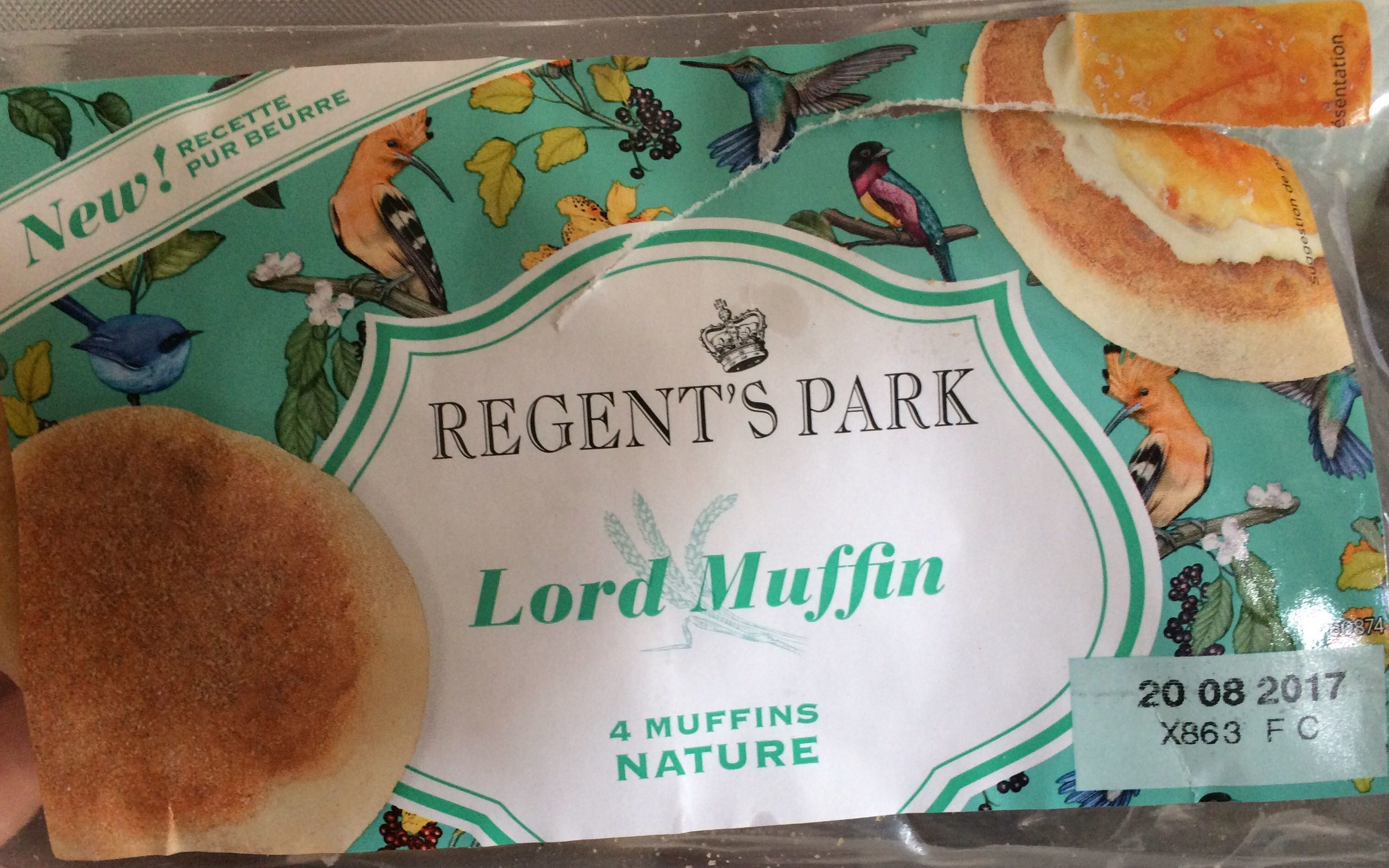 Muffins nature recette pur beurre - Product