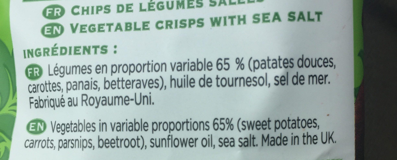 Lady chips Légumes - Ingredients