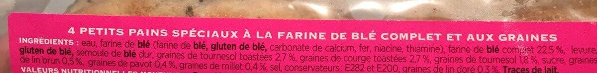 Muffins 7 Graines à la Farine Complète - Ingredienti - fr