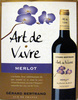Vin Merlot Pays d'Oc IGP Art de Vivre Gérard Bertrand - Produit
