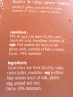 Sao Tomé Noir 70% - Ingrédients - fr