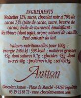 Opila - Informations nutritionnelles - fr