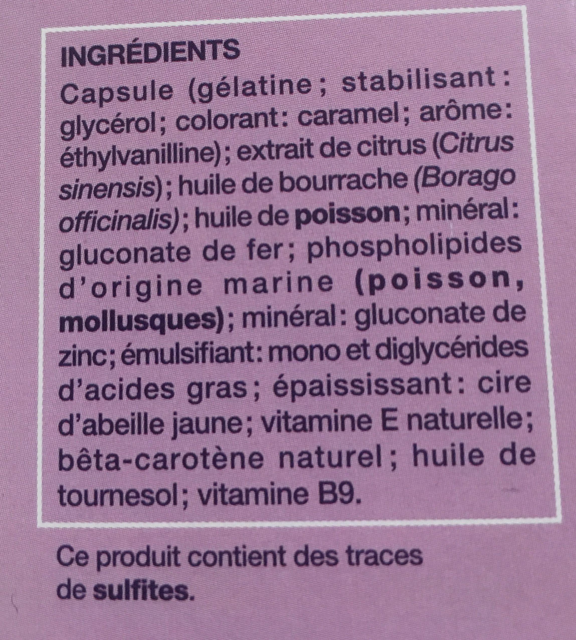 Nutrisanté Manhaé Féminité Ménopause - Ingrédients - fr