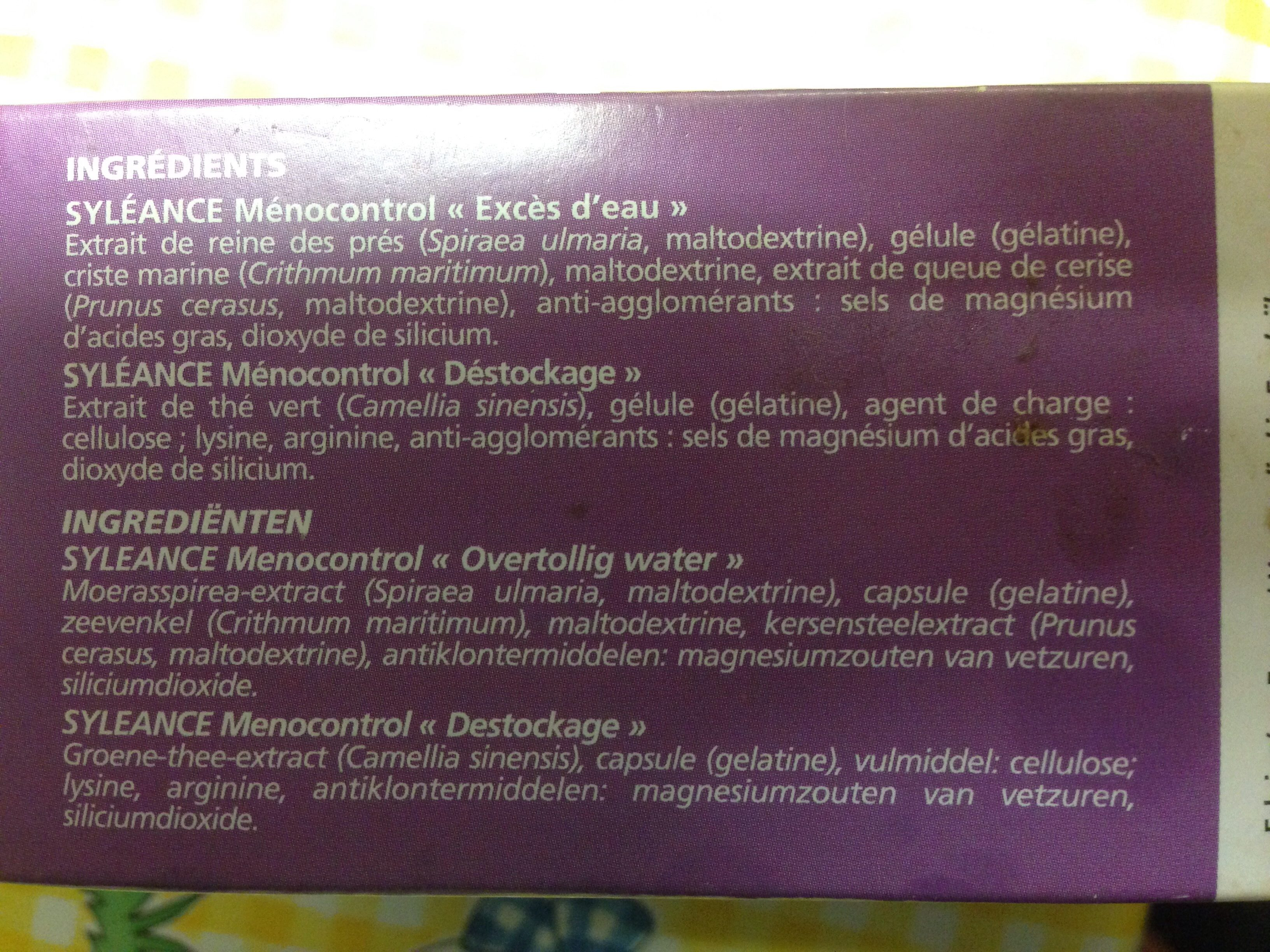 Syléance Ménocontrol - 60 Gélules - Yves Ponroy - Ingrédients