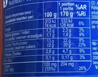 Yaourt à boire aromatisé - Nutrition facts - fr