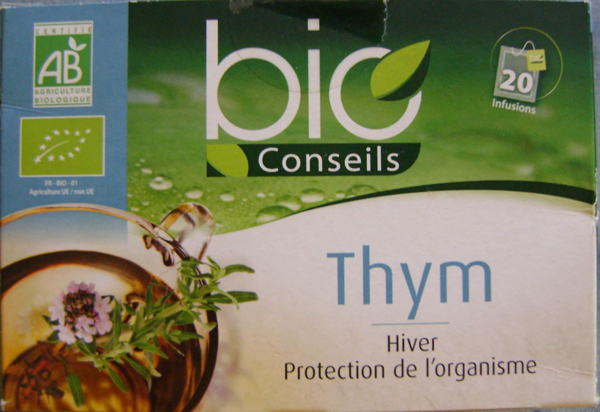 Infusion de Thym - Bio Conseils - 20 infusions