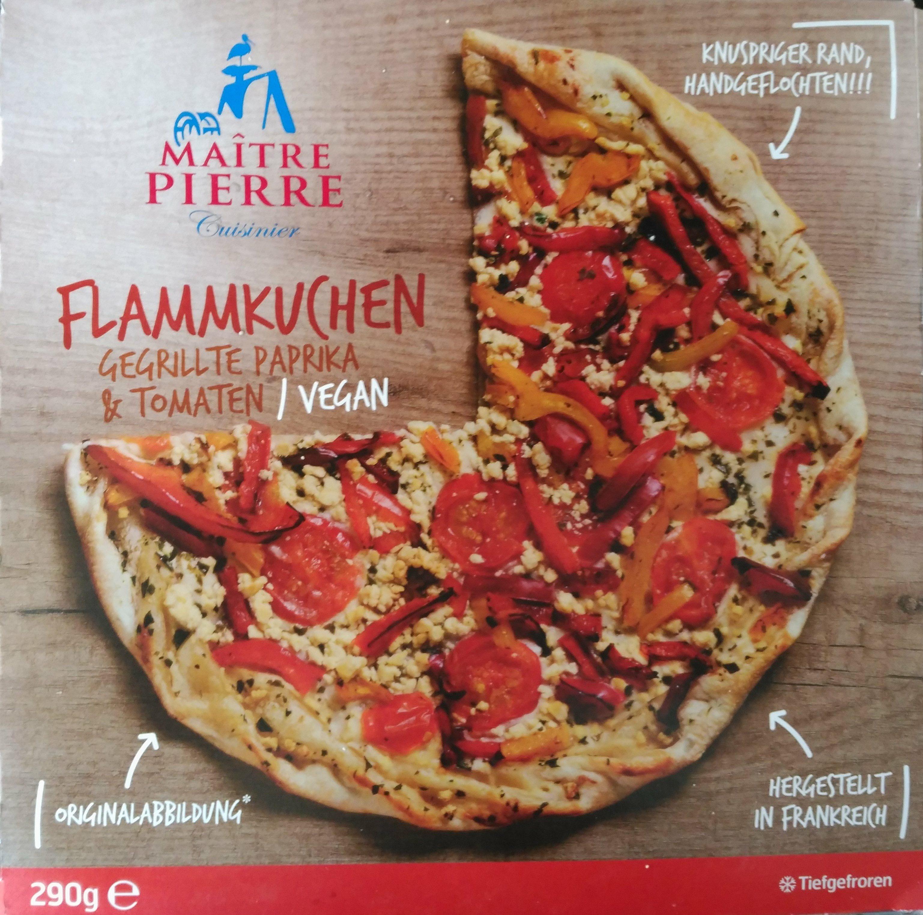 Flammkuchen Gegrillte Paprika & Tomaten - Produit - de